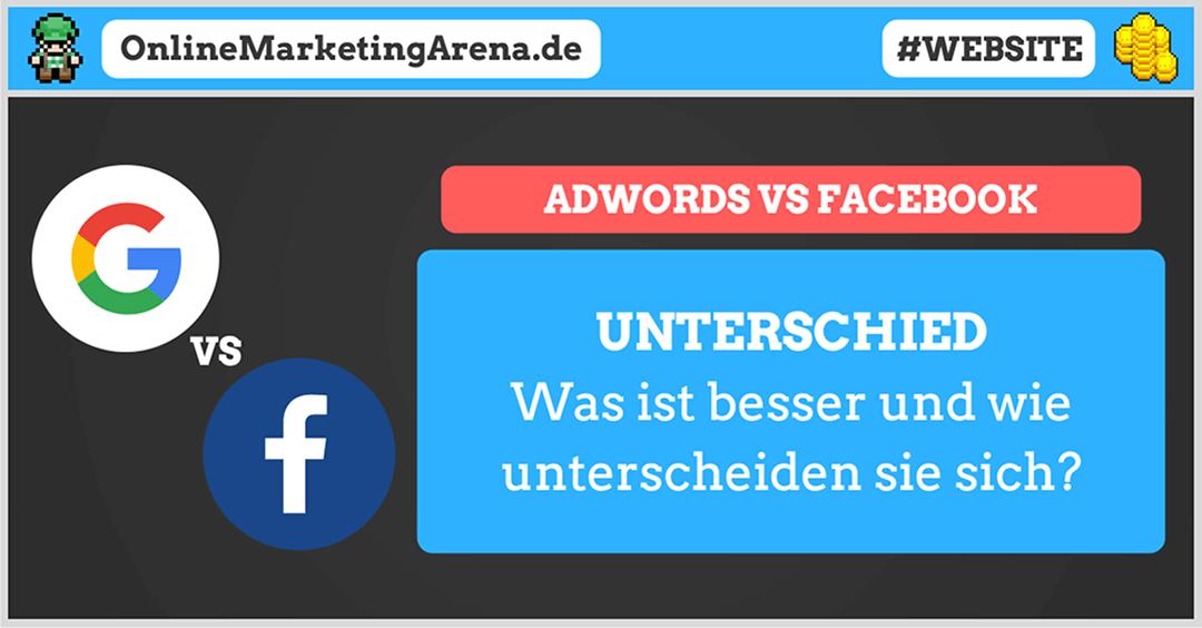 Google AdWords oder Facebook Werbung - Unterschied Artikelbild