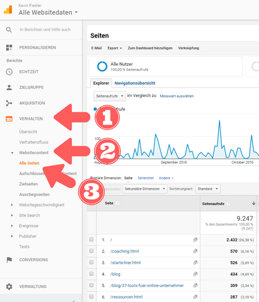 Google Analytics Bild