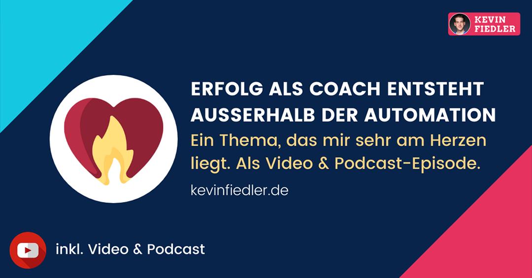 Erfolg als Coach entsteht außerhalb der Automation