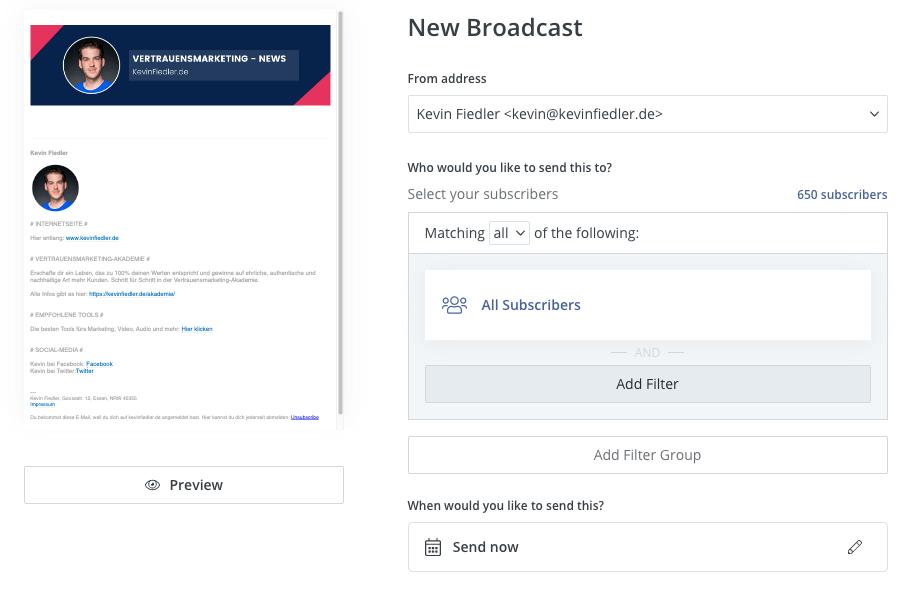 Kostenlos einen Newsletter erstellen